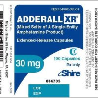 Adderall instructions